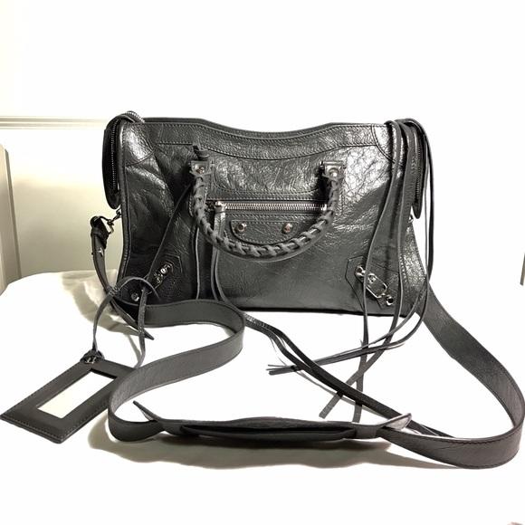 Balenciaga Bags - Balenciaga Grey Mini City Bag