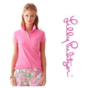 Lilly Pulitzer Pink Polo Shirt