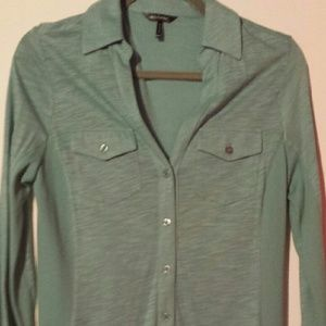Tops - DAISY FUENTES CASUAL TOP ICE BLUE SZ Small