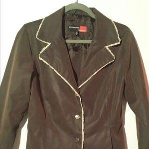 Jackets & Blazers - MARCELLE RENEE BLAZER JACKET BROWN SZ SMALL