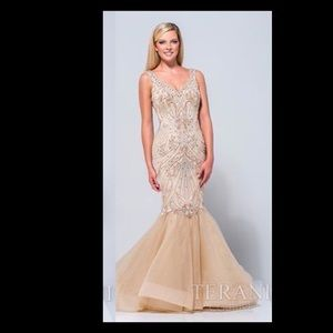 Terani Couture Dresses & Skirts - Terani couture gold beaded dress