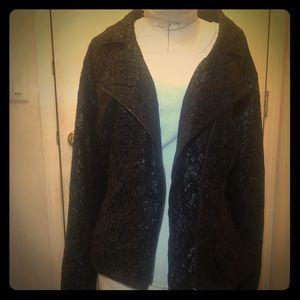 Unique Lace lined black dress jacket