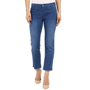 NWT Sanctuary denim Marianne crop jeans raw edge