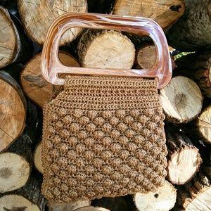 Vintage Handbags - BAKELITE Macrame Handbag