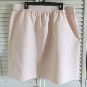 BRAND NEW Pale pink corduroy skirt with gold dots