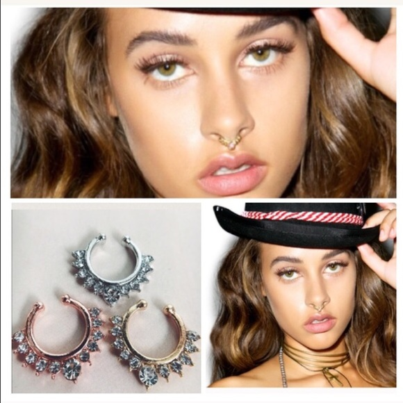 Amannequin Jewelry New Dainty Faux Septum Nose Ring With