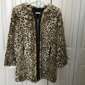 Brand New Faux fur Zara coat.