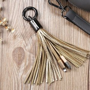 Accessories - ‼️1 HOUR SALE‼️Phone Charger Tassel Charm/Keychain