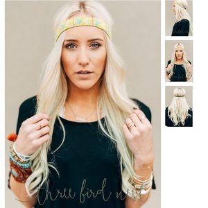 Three Bird Nest Accessories - Pointed Arrow Beaded Headband