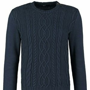GAP Other - Gap cable knit navy sweater with zipper shoulder