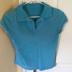 Wonder Woman M turquoise cuff sleeve top