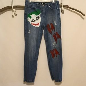 Denim - Show your Fun Side Hand Painted/Distressed Jeans