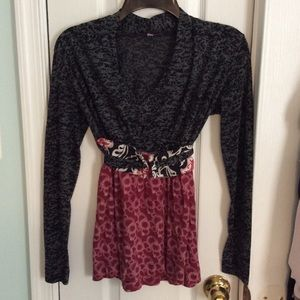Lilac Clothing Tops - Lilac Boho Belted L/S Top