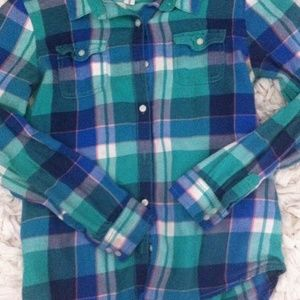 GREEN OLD NAVY FLANNEL