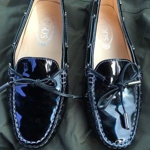 Tod's patent leather loafers!