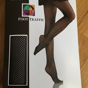 Black fishnet tights panty hose OSFM