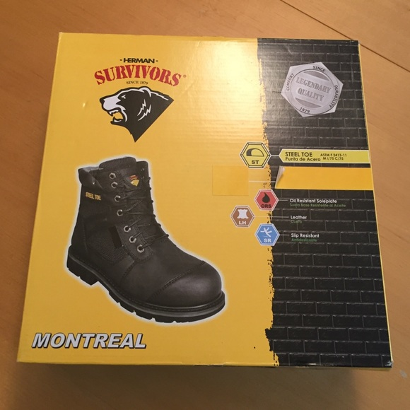 03a7749b1c6 Men's Steel Toe Herman Survivors Work Boots 7 1/2 NWT