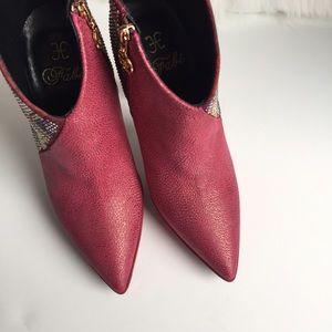 Fabi Shoes - Fabi New Platform High Heel Booties; size 5,5