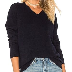Vince NWT Navy Blue V Neck Wool Sweater MSRP $245