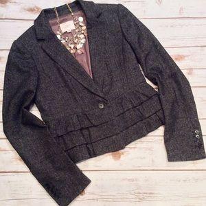 LOFT Jackets & Blazers - 🌹 HP Ann Taylor Loft Gray Wool Blend Blazer Sz 2