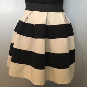 BOGO Humble chic black and cream striped skirt