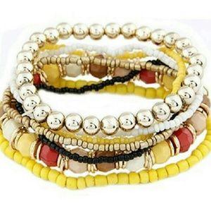 Jewelry - 7 pcMultilayer Acrilic Beads Beach Bracelet