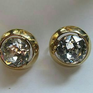 Vintage GOLD Tone Multi Faceted Earrings