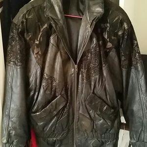 Clipper Bay 100% Leather 80's Vintage jacket
