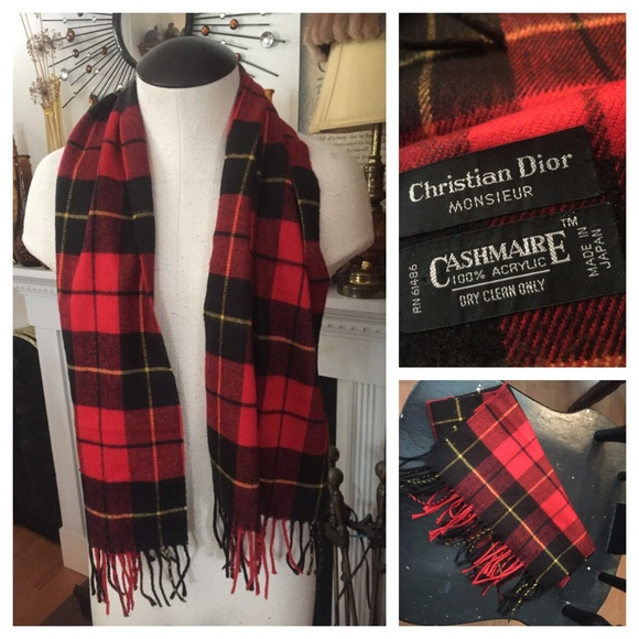 39e2a7358dcf Christian Dior Other - VINTAGE Unisex CHRISTIAN DIOR PLAID Scarf 🎉HP🎉