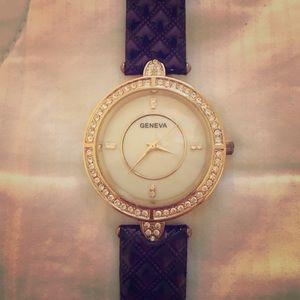 Geneva Platinum Accessories - Beautiful purple Geneva ladies watch