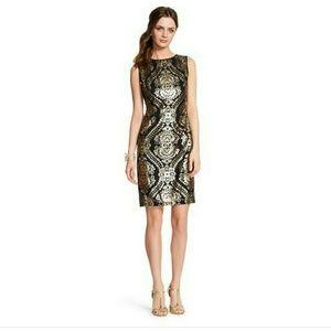 Donna Ricco Dresses & Skirts - Sequined Mesh Sheath Dress