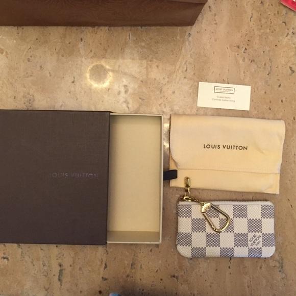 11c6bdea0390 Louis Vuitton Handbags - Louis Vuitton Key Pouch-Damier Azur Canvas