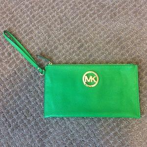 Michael Kors Handbags - Michael Kors Bright Green Wristlet