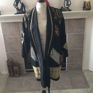 Vintage Jackets & Blazers - Vintage African Tribal Print Blazer