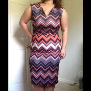 ECI Dresses & Skirts - Chevron Bodycon Dress