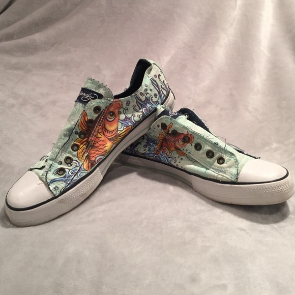 60 ed hardy shoes ed hardy slip on sneaker from