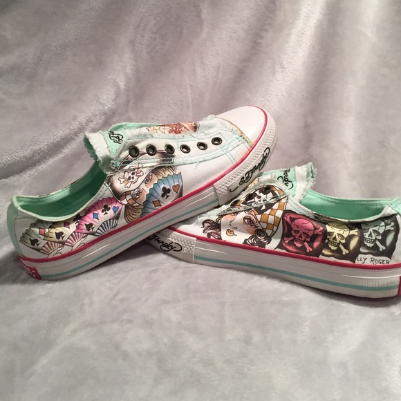 33 ed hardy shoes ed hardy slip on sneaker from