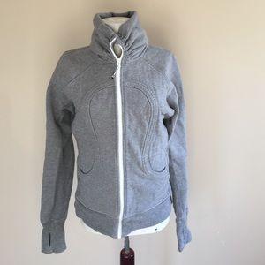 lululemon athletica Tops - Like new Lululemon grey zip hoodie sweatshirt sz 8