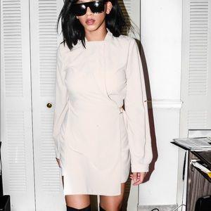 Dresses & Skirts - Nude Cross-over Romper best for Smart Dressing