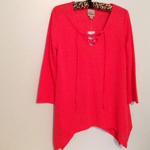 🆕 NWT Coral Loose Fit Boat Top