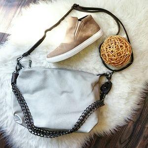 Black Rivet Handbags - Gray crossbody satchel bag purse NWOT