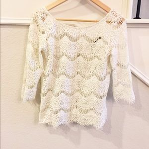 Zara Cream Lace top