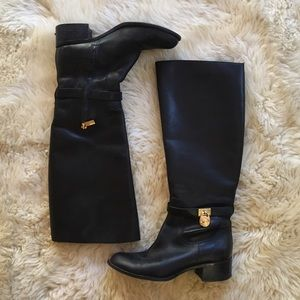 Michael Kora Black Leather Boots