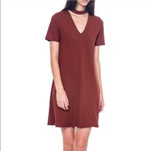 Bellino Clothing Dresses & Skirts - Brick Neck Cut Out Dress