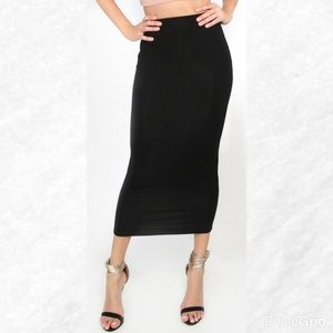 Dresses & Skirts - Last 1! Black High Waist Midi Skirt