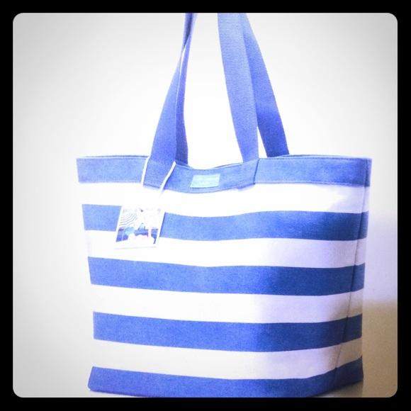 NWT DOLCE   GABBANA Light Blue  White Striped Tote NWT 67b39499c9491