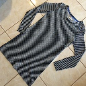 Lou & Grey long sleeve striped dress