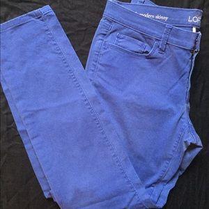 Periwinkle LOFT skinny jeans