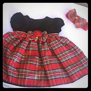 Youngland Other - 💖 Christmas Holiday Plaid Dress Velvet 3-6 Month