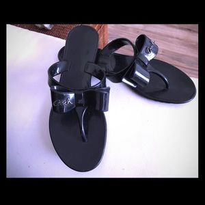 Authentic Black Coach Sandals